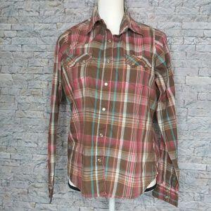 Wrangler Womens Western Pearl Snap Shirt